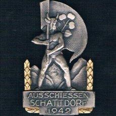 Medallas históricas: AUSSCHIESSEN SCHATTDORF 1942. Lote 47537646