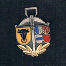 Medallas históricas: ESCUDOS SOBRE FONDO PLATEADO CON BORDES PLATEADOS. Lote 47574502