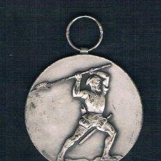 Medallas históricas: SOLDADO CON LANZA SOBRE FONDO PLATEADO. Lote 47575322
