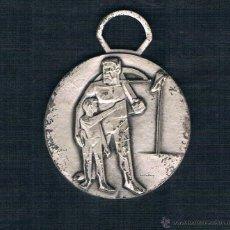 Medallas históricas: HOMBRE CON BALLESTA JUNTO A SU HIJO. Lote 47576632