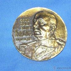 Medallas históricas: MEDALLA GENERALISIMO FRANCO - 1892/1975 - REVERSO TESTAMENTO - COLOR BRONCE DORADO 8 CM. DIAMETRO. Lote 101392100