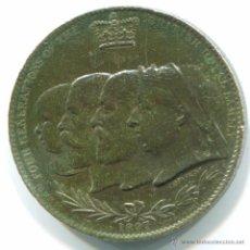 Medallas históricas: INGLATERRA. MEDALLA CONMEMORATIVA DEL JUBILEO DE DIAMANTE DE LA REINA VICTORIA 1897. 32MM.. Lote 48219335