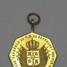 Medallas históricas: SOCIEDAD ESPAÑOLA DE SOCORROS MUTUOS DE BARRACAS Y BUENOS AIRES.1862 ANIVERSARIO DE SU FUNDACIÓN.. Lote 48606504