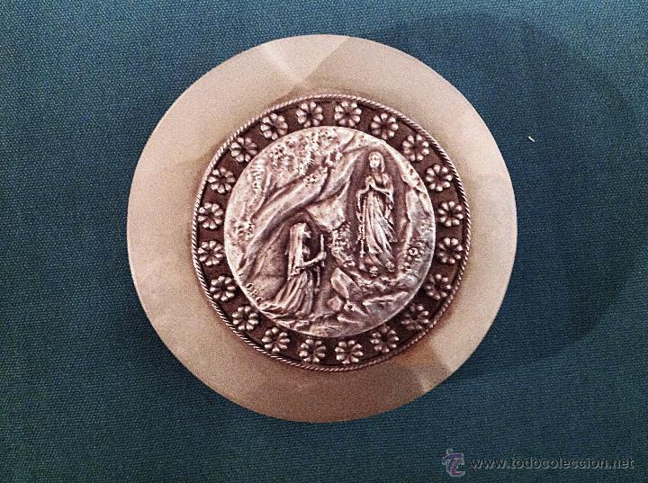 Medallas históricas: Antigua Medalla Plata Virgen De Lourdes - Foto 2 - 48738492