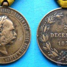 Medallas históricas: MEDALLA DEL IMPERIO AUSTRO HÚNGARO FRANCISCO JOSE I , 2 DICIEMBRE 1873. Lote 48914756