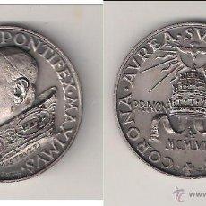 Medallas históricas: MEDALLA DE JUAN XIII DE 1958. CORONACIÓN. VATICANO. PLATA. CON ESTUCHE ORIGINAL. (PA62).. Lote 49089530