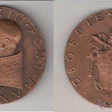 Medallas históricas: MEDALLA DE JUAN XXIII DE 1958. OBEDIENCIA Y PAZ. VATICANO. COBRE. CON ESTUCHE ORIGINAL. (PA65).. Lote 49094580