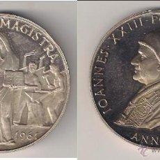 Medallas históricas: MEDALLA JUAN XXIII DE 1961. ENCÍCLICA MATER ET MAGISTRA. VATICANO. PLATA. PÁTINA MUY BONITA. (PA69). Lote 49095862
