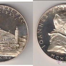 Medallas históricas: MEDALLA DE JUAN XXIII DE 1961. POR EL 80º GENETLÍACO DEL PONTÍFICE. VATICANO. PLATA. PROOF. (PA70).. Lote 49096929