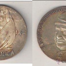 Medallas históricas: MEDALLA DE JUAN XXIII DE 1962. UNA SANTA CATÓLICA APOSTÓLICA. VATICANO. PLATA. (PA74).. Lote 49098367