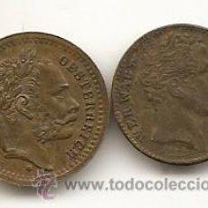 Medallas históricas: AUSTRIA. 2 JETTONES DEL SIGLO XIX. Lote 49594233