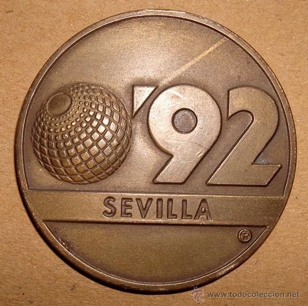 MONEDA MEDALLA EXPO SEVILLA 1992 LA CARTUJA (Numismática - Medallería - Histórica)