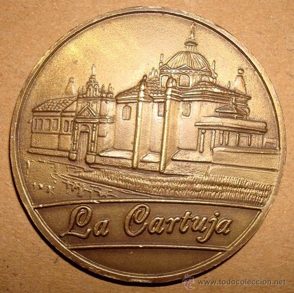 Medallas históricas: MONEDA MEDALLA EXPO SEVILLA 1992 LA CARTUJA - Foto 2 - 49599524