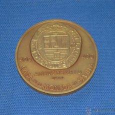Medallas históricas: MEDALLA CONMEMORATIVA - SEVILLA 400 ANIVERSARIO DE LA CASA DE LA MONEDA - 1978 - 6 CM. Lote 49927472