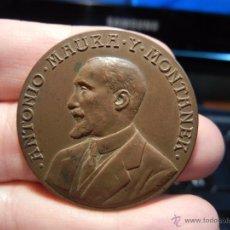 Medallas históricas: MEDALLA BRONCE. ANTONIO MAURA Y MONTANER. POR ESPAÑA. 29 ABRIL 1917.. Lote 49955299