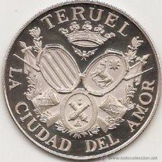 Medallas históricas: MEDALLA DE TERUEL. 45 MM. ACUÑADA POR ACUÑACIONES PARÍS SA CON EL PATROCINIO DEL BANCO ZARAGOZANO.. Lote 51788886