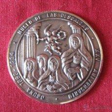 Medallas históricas: MEDALLA CONMEMORATIVA XXV ANIVERSARIO MUSEO DE LAS DESCALZAS - OSUNA 1969/1994 - PLATA 34 GR. 5 CM.. Lote 52767661