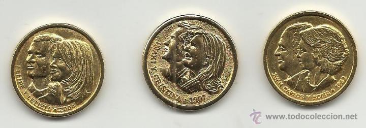 COLECCION DE MEDALLAS LAS BODAS DE LOS REYES JUAN CARLOS Y SOFIA FELIPE Y LETIZIA IÑAKI Y CRISTINA (Numismática - Medallería - Histórica)