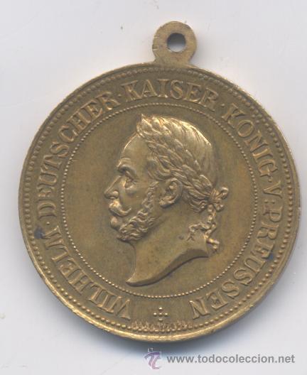 MEDALLA-ALEMANIA-GUILLERMO V KAISER-1861-1881 (Numismática - Medallería - Histórica)