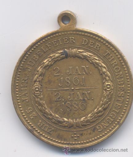 Medallas históricas: MEDALLA-ALEMANIA-GUILLERMO V KAISER-1861-1881 - Foto 2 - 52895965