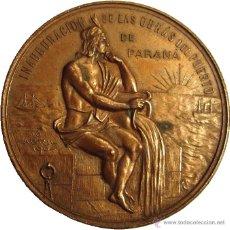 Medallas históricas: ARGENTINA. MEDALLA INAUGURACIÓN OBRAS DEL PUERTO DE PARANÁ. 1.904. Lote 48812924