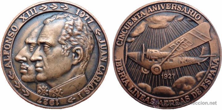 Medallas históricas: ESPAÑA. MEDALLA 50 ANIVERSARIO IBERIA. 1.977. CON ESTUCHE ORIGINAL - Foto 4 - 53358168