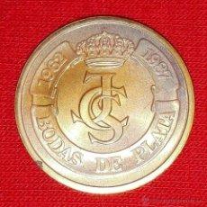 Medallas históricas: MEDALLA COBRE DE LA PRUEBA DEL ESTUCHE 500 PESETAS CECA DE MADRID 1987. Lote 53427799