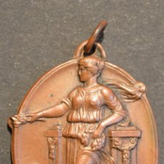 Medallas históricas: MEDALLA ESCOLAR EN BRONCE 1935 BARCELONA IV ANIVERSARI PROCLAMACIO DE LA REPUBLICA. Lote 53689443
