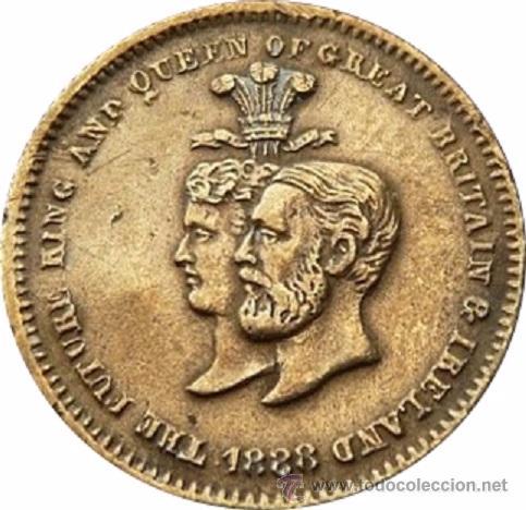 INGLATERRA. BODAS DE PLATA REALES ALBERTO Y ALEJANDRA. 1.863 (Numismática - Medallería - Histórica)