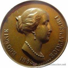 Medallas históricas: FRANCIA. MEDALLA EMPERATRIZ EUGENIA. 1.853. MONTAGNY. Lote 53945265
