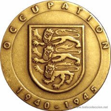 Medallas históricas: JERSEY. MEDALLA 50 ANIVERSARIO LIBERACIÓN WWII. 1.995. CON ESTUCHE ORIGINAL. Lote 53951535