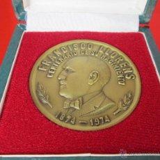 Medallas históricas: MEDALLÓN-CENTENARIO-FRANCISCO LLORENS-1874/1974-1975-60 MM.D-5 MM.G-112 GRAMOS-CAJA-PERFECTA-. Lote 53964660