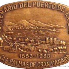 Medallas históricas: ESPAÑA. MEDALLA CENTENARIO DEL PUERTO DE LA LUZ 1.983. CON ESTUCHE ORIGINAL. Lote 54073361