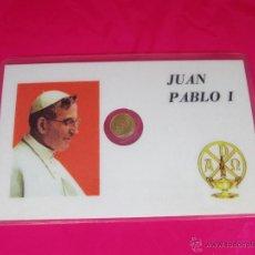 Medallas históricas: *TARJETA CONMEMORATIVA-JUAN PABLO I-MONEDA INCORPORADA-NUEVA-COLECCIONISMO-VER FOTOS.. Lote 54175714