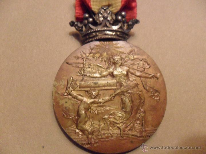 Medallas históricas: MEDALLA EXPOSICION UNIVERSAL DE BARCELONA 1888 COBRE Y CORONA PLATA - Foto 2 - 54253103