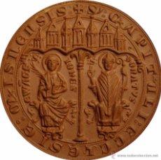Medallas históricas: ALEMANIA. MEDALLA DE TERRACOTA DE S. JUAN Y S. DONATO. 1.968. 63 MM. Lote 48403626