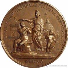 Medallas históricas: ITALIA. MEDALLA DE LA EXPOSICIÓN GENERAL DE TORINO. 1.884. Lote 54384730