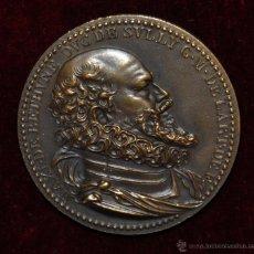 Medallas históricas: MEDALLA EN BRONCE FRANCESA DE MAXIMILIEN DE BETHUNE DUC DE SULLY. Lote 54457218