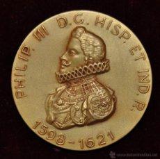 Medallas históricas: MEDALLA PHILIP. III D.G. HISP. ET IND. R. NUEVO REINO DE GRANADA. X.Y F CALICO BARCELONA. 1965. Lote 54457248
