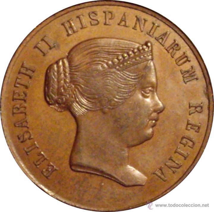 ISABEL II. MEDALLA HISPALENSES FAUSTUM. SEVILLA 1.862 (Numismática - Medallería - Histórica)