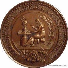 Medallas históricas: ALFONSO XIII. MEDALLA EXPOSICIÓN ARAGONESA. 1.886. Lote 50502825