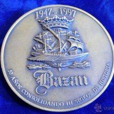 Medallas históricas: MEDALLA 50 ANIVERSARIO BAZAN 1947-1997, BRONCE. Lote 54584875