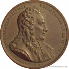 Medallas históricas: FRANCIA. MEDALLA ANTOINE JEAN BAPTISTE ROBERT AUGET. 1.866. CON ESTUCHE ORIGINAL. Lote 54593334