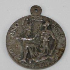 Medallas históricas: M-014 - MEDALLA EN METAL PLATEADO. AÑO DEL PILAR 1972 OCTUBRE 1973. ESPAÑA.. Lote 54949635