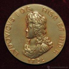 Medallas históricas: MEDALLA CONMEMORATIVA LUIS I 1872. CALICO (BARCELONA) MCMLXV LA FORTALEZA SE PRUEBA EN LA ADVERSIDAD. Lote 55057669