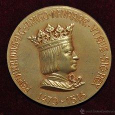 Medallas históricas: MEDALLA RETRATOS MONETARIOS REYES DE ESPAÑA FERNANDO EL CATOLICO REINO DE ARAGON COLECCIÓN CALICO. Lote 55058281