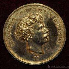 Medallas históricas: MEDALLA EN BRONCE DORADO DE MARIANO FORTUNY Y MARSAL (REUS, 1838 - 1873) ESCULTOR J. MORATO. Lote 55063089