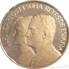 Medallas históricas: ESPAÑA. MEDALLA JUAN CARLOS Y SOFÍA. PLATA PROOF. CON ESTUCHE. Lote 56002549