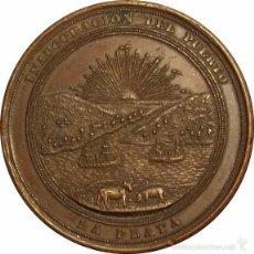 Medallas históricas: ARGENTINA. MEDALLA DE LA INAUGURACIÓN DEL PUERTO DE LA PLATA. 1.890. Lote 56262862