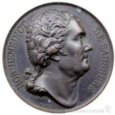 Medallas históricas: FRANCIA. MEDALLA HOMENAJE A HORACE BENEDICT DE SAUSSURE. 1.823. Lote 56280863